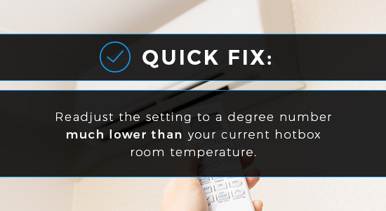 Thermostat Settings Fix