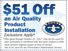 Air Quality Product Installation
