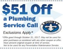 Discount on Plumbing Service