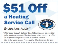 $51 off heating Service
